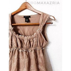 BCBGMaxAzria floral embroidered peasant tank top